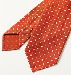E&G CAPPELLI(イージー・カペッリ)<br>SILK ROUND KOMON TIE OR