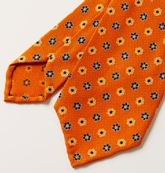 E&G CAPPELLI(イージー・カペッリ)<br>SILK HOPSACK FLOWER KOMON TIE OR