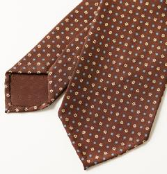 E&G CAPPELLI(イージー・カペッリ)<br>SILK FLOWER 2TONE KOMON TIE