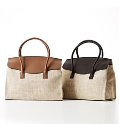 MAURO GOVERNA(マウロ・ゴヴェルナ)<br>SILK CALF×LINEN SMALL FRAP TOTE BAG