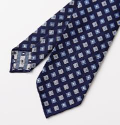 E&G CAPPELLI(イージー・カペッリ)<br>SILK JACQUARD BIG SQUARE KOMON TIE