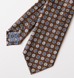 E&G CAPPELLI(イージー・カペッリ)<br>SILK JACQUARD BIG FLOWER KOMON TIE
