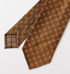 E&G CAPPELLI(イージー・カペッリ)<br>SILK JACQUARD BIG ROUND KOMON TIE