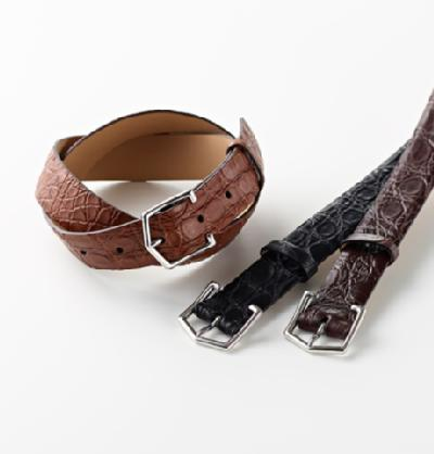 MAISON OCTOPUSSY(メゾン・オクトパシー)CROCODILE PENTAGON BUCKLE BELT