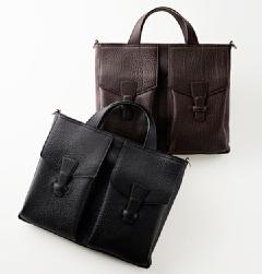 MAURO GOVERNA(マウロ・ゴヴェルナ)<br>BUFFALO SHOULDER BRIEF BAG