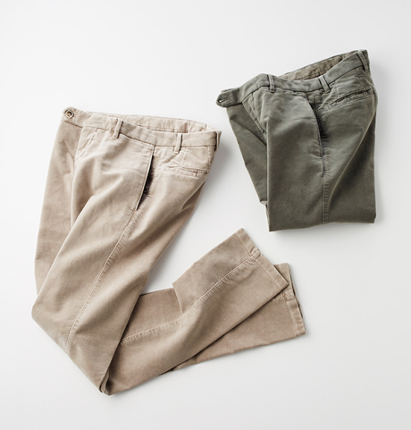 marcopescarolo(マルコ・ペスカローロ)NO-PLEATS MOLESKIN TROUSER